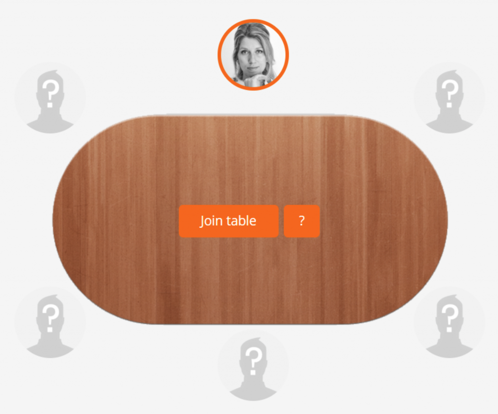 Querine picks a seat at a discussion table